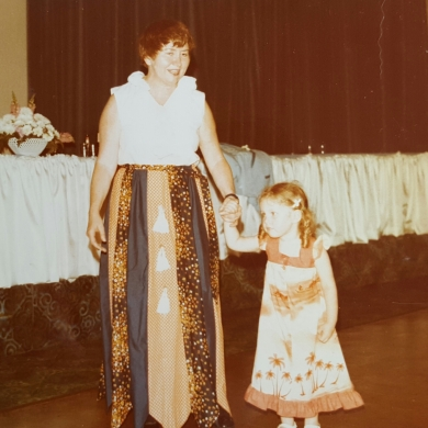 my grandmother and I at a wedding in the late seventies